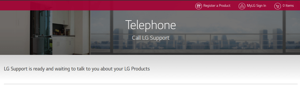 LG phone customer support software example
