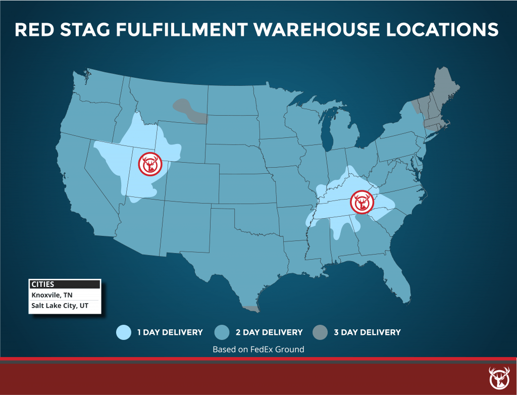 Red Stag Fulfillment fulfillment warehouse locations