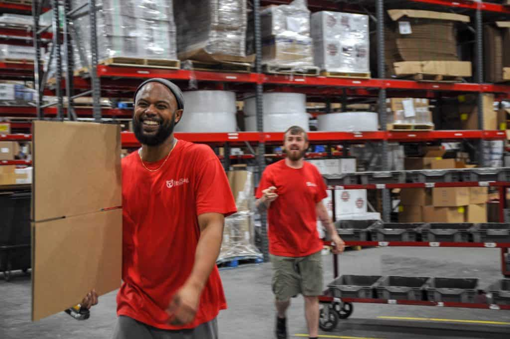 Fulfillment center workers