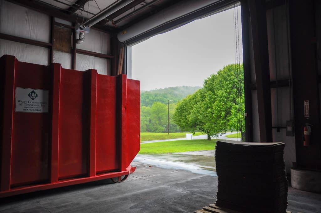 loading dock receives drayage deliveries
