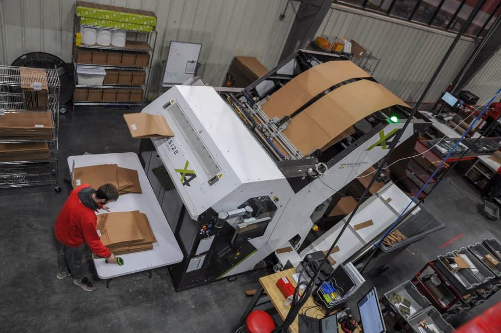 USPS shipping dimensional weight Red Stag box machine