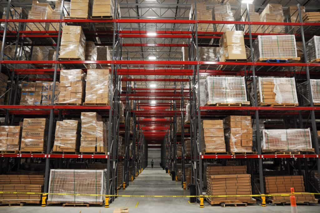 inventory control in a warehouse