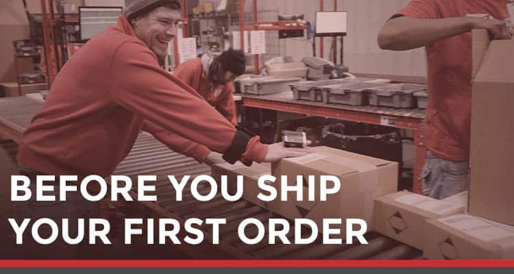 Before your first order ships from your new 3PL