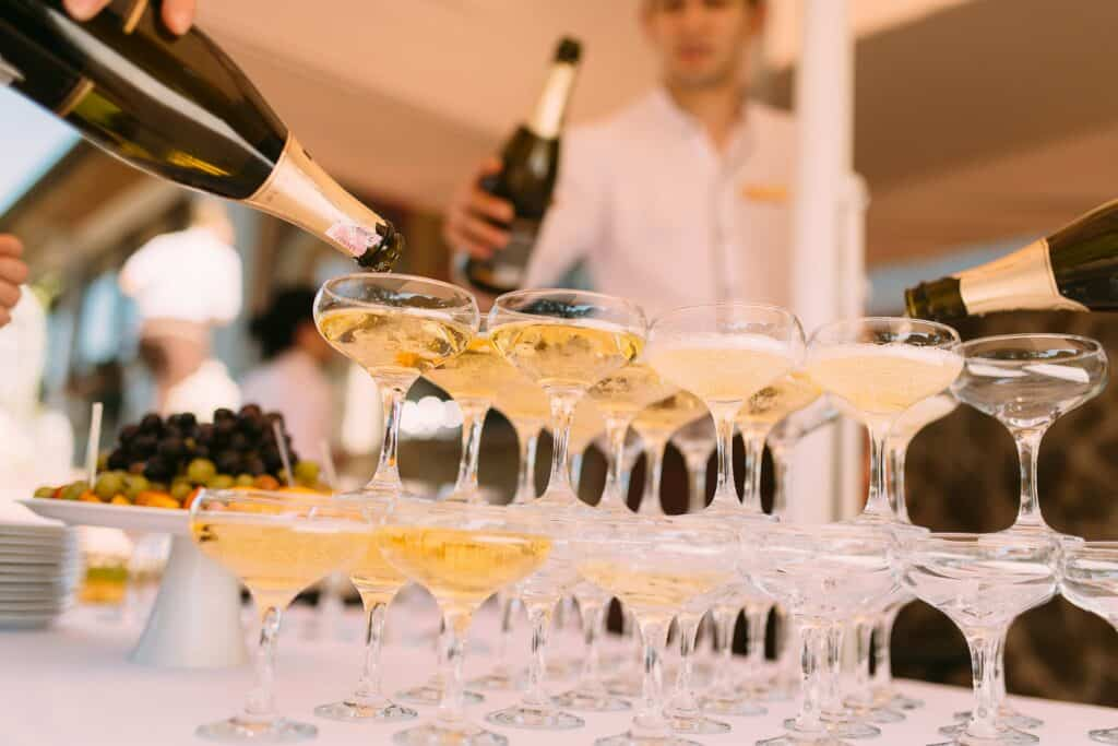 SKU numbers can help you tell apart champagne glasses or any product