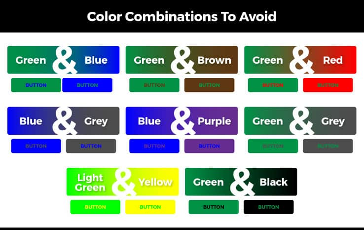 color blindness color combinations