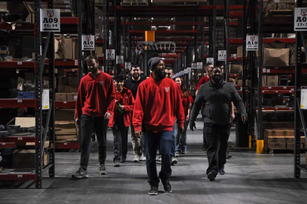 ecommerce warehouse workers
