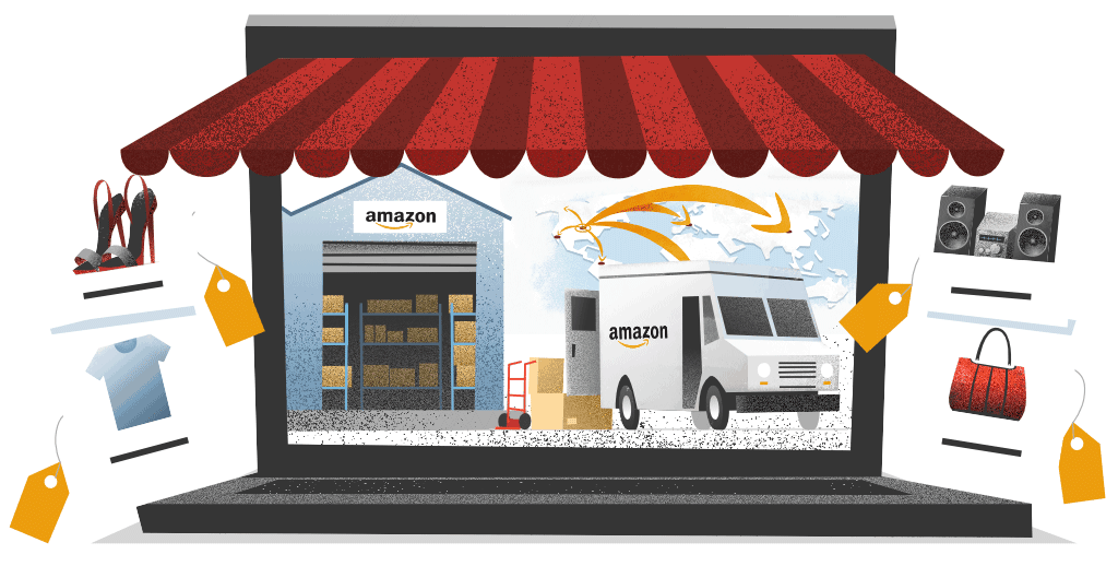 Amazon showing its own direct fulfillment center model
