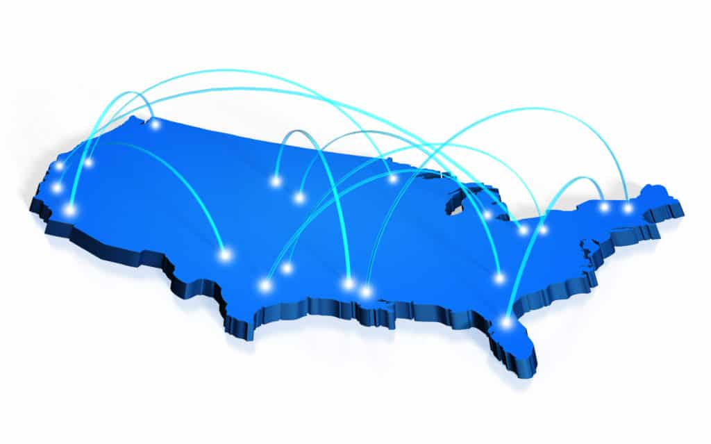 nationwide and California fulfillment coverage