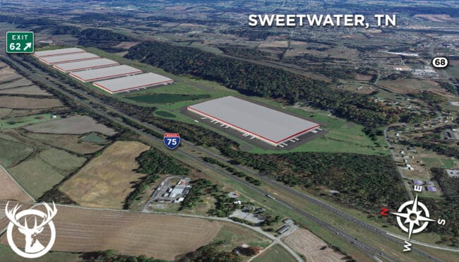 The proposed rendering of Red Stag's future Sweetwater campus