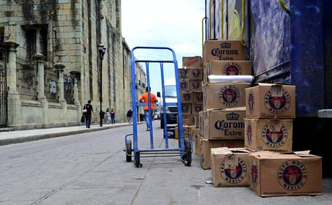truck to ship alcohol to customers