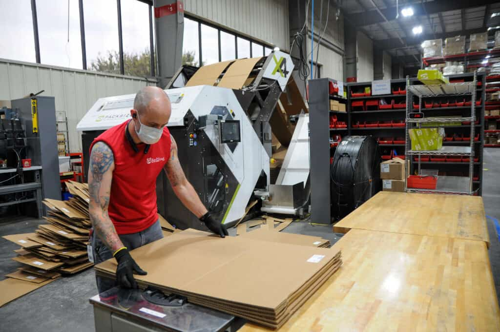 Red Stag Fulfillment packaging machine