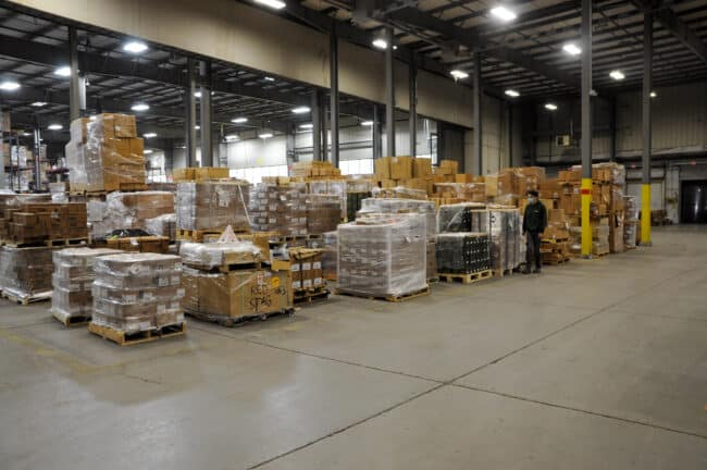 pallets and palletized stock