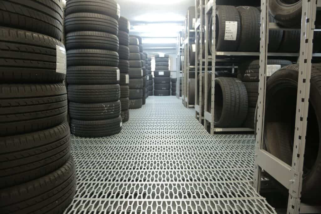 tires could be shipped in floor-stacked containers
