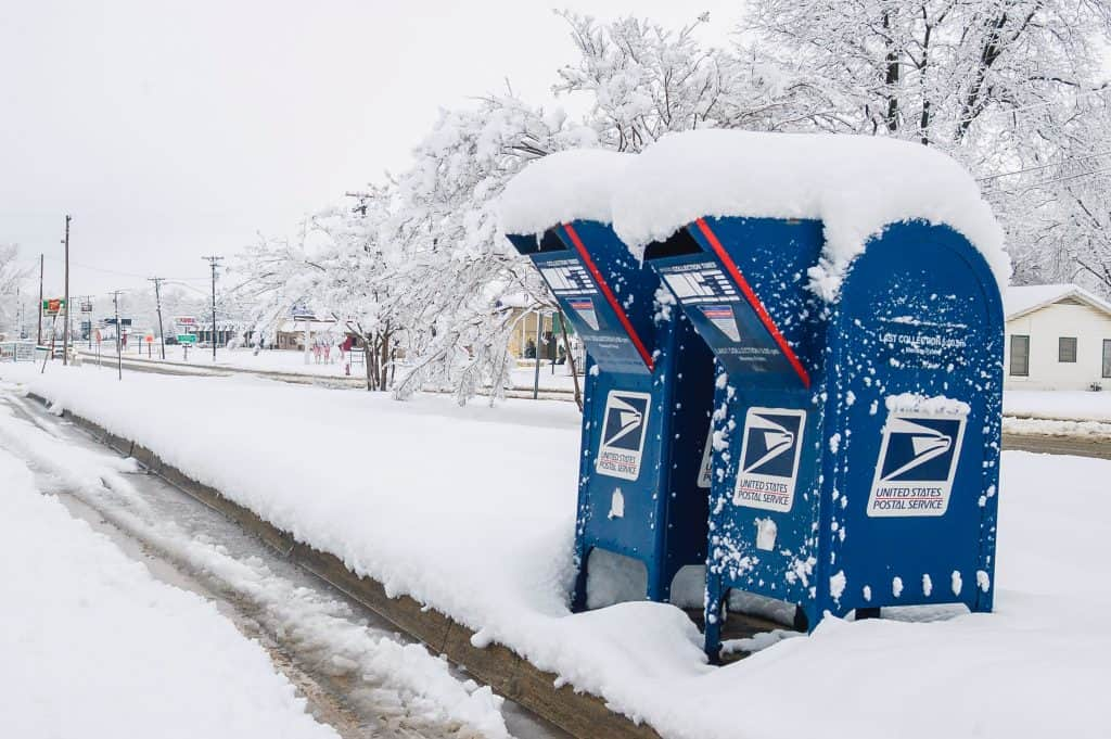 USPS shipping dimensional weight mailboxes
